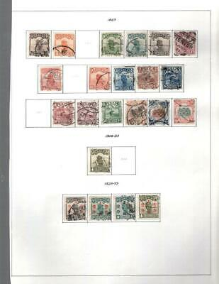 1¢ Wonder's ~ China Used Small Lot On Page All Shown ~ W547