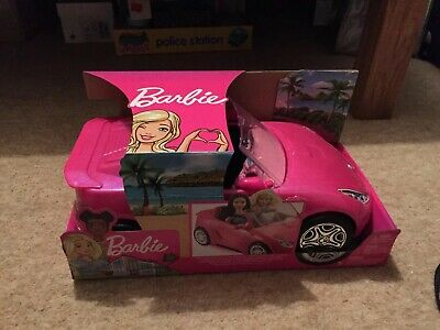 Barbie DVX59 Glam Convertible Sports, Toy Vehicle for Doll, Pink Car Brand New