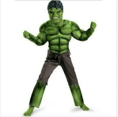 Deluxe Incredible Hulk Age 3-8 Boys Fancy Kids Marvel Avengers Costume with Mask