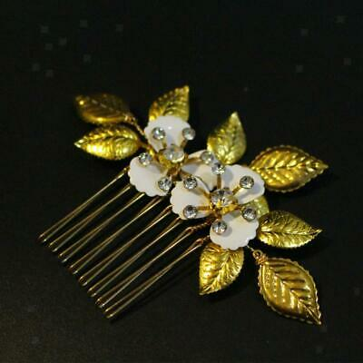 Womens Antique Rhinestone Flower Hair Comb Bridal Wedding Hair Accessory Gifts