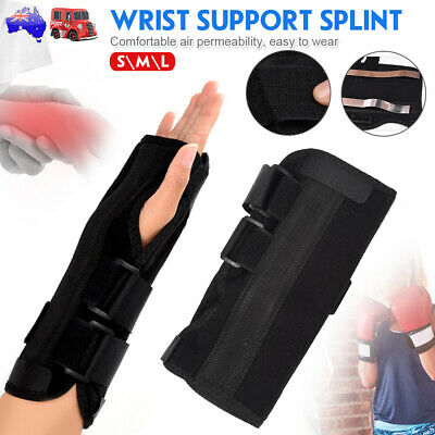 Superb 2x Metal Splint Wrist Support 3 Straps Pain Relief Carpal Tunnel RSI CRS