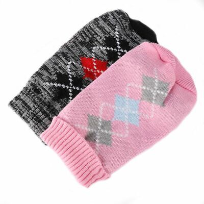 Fashion Knitted Puppy Dog Jumper Sweater Pet Clothes For Small Dog Warm Coats UK