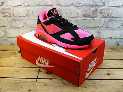 Mens Nike X Comme Des Garcons Air Max 180 Pink Mesh Trainers Size 7.5 Rrp £203