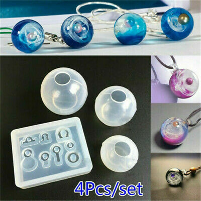 Transparent Ball Pendant Resin Mold Set Silicone Epoxy Mold Jewelry Making DIY