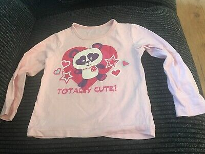 Girl's Long Sleeved Pink T-Shirt from George at Asda Age 2-3 Years