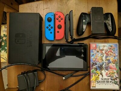 Nintendo Switch Bundle - All accessories and seven games (see description)