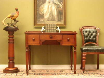 FINE ANTIQUE ENGLISH MAHOGANY + LEATHER 3 DRAWER DESK ~ IN LOVELY ORDER  c1880s
