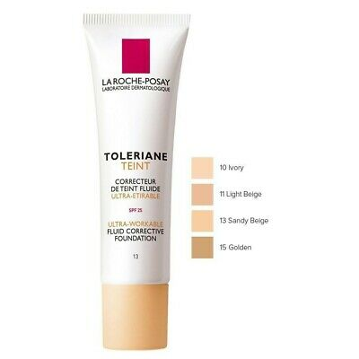 La Roche-Posay Toleriane Teint Fluid Foundation 30ml Ivory Expiry May 2020