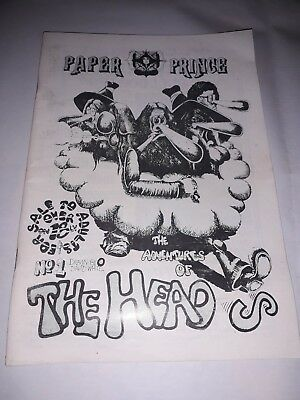 THE HEADS By David White 1982 Similar To Freak Brothers VERY RARE drug humour pb