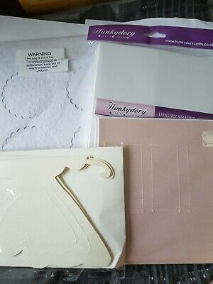 Hunkydory And Other Luxury Shaped Blank Cards X 4 Packs