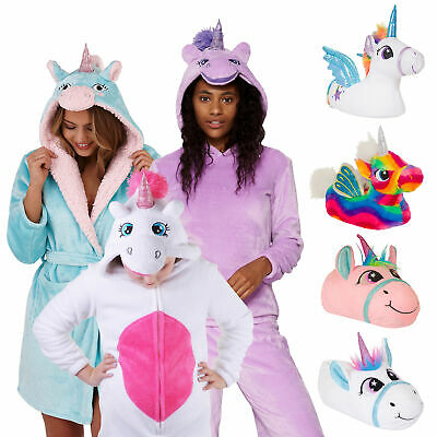 KIDS, LADIES UNICORN ROBES & PYJAMAS Sleepwear Onepiece Jumpsuit Dressing Gown