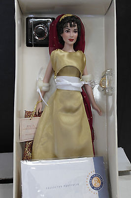 "Franklin Mint JULIA Roman Empress Vinyl Doll 16"" Rare Pristine Sealed COA!"