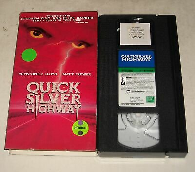 HORROR VHS TAPE in SLEEVE - STEPHEN KING QUICKSILVER HIGHWAY CLIVE BARKER 1998