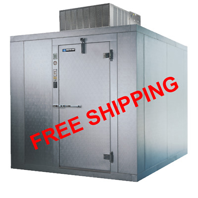8x10 Self Contained Indoor Walk In FREEZER with Floor - Free Shipping