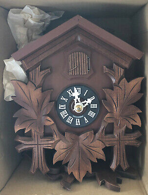 "Hubert Herr 10-1/4"", One-Day Walnut Antique Basic Cuckoo Clock"