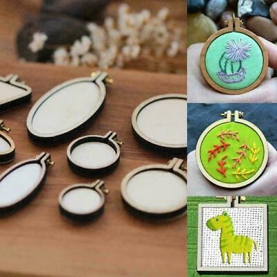 Mini Wooden Frame Embroidery Hoop Hand Cross Stitching Framing Sizes B3T8 C A5J2