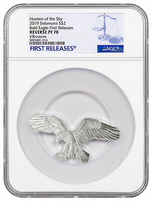 2019 Solomon Hunters of Sky Bald Eagle 1 oz Silver Rev PF NGC PF70 UC SKU59690