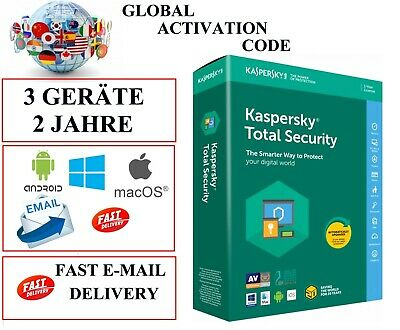 Kaspersky Total Security  2020 3 Geräte 2 Jahre  EU / DE / GLOBAL KEY CODE