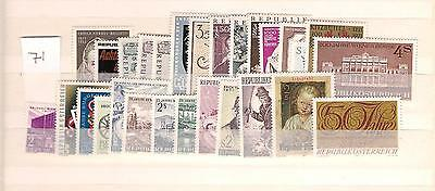 1971 MNH Austria year complete