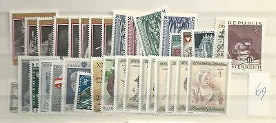 1969 MNH Austria year complete