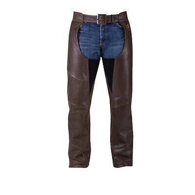 Indian Motorcycle Men's Traditional Leather Chaps, Brown