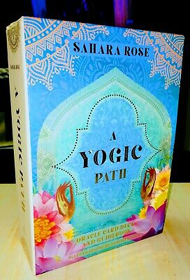 """THE YOGIC PATH ORACLE DECK & GUIDEBOOK KEEPSAKE BOX"" by: Sahara Rose"