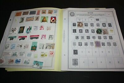 BRAZIL LOT of 250+ Stamps on Minkus Album Pages Nice Early