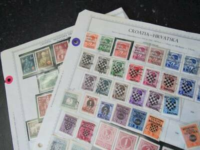 NobleSpirit No Reserve Desirable Croatia Stamp Page Coll w Mint High CV