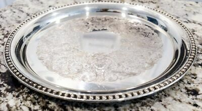 """William Rogers 12""""Silver Plate Serving Platter"""