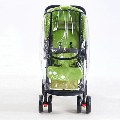 Universal Baby Pushchair Stroller Raincover Clear Rain Cover Pram Buggy w Window