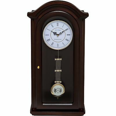 Fox And Simpson Burnley Walnut Solid Wood Pendulum Clock With Westminster Chimes
