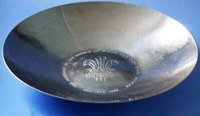 KSIA Prince Charles Princess Diana Royal Wedding Commemorative Metal Bowl