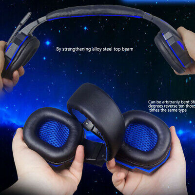 Wireless Bluetooth Gaming Headset Headphones Stereo w/ Mic for PS4 Xbox One PC