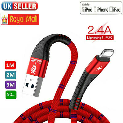 USB Lightning Charging Cable for iPhone iPad Data Sync Lead Charger Wire Cord
