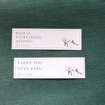 Fleabag, The Scriptures. 2 x promo bookmarks [ book not included ]