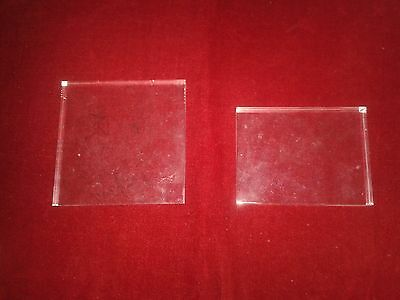 2 x GLASS STAMP BOARDS - Different sizes - In VGC