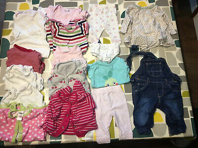 Baby Girls Clothes Job Lot Bundle: Up To 10lbs - 1 Month - c17 Items - Next