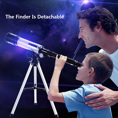 90X Refractor Telescope Adjustable Tripod Compact Travel Astronomy 360x50mm UK