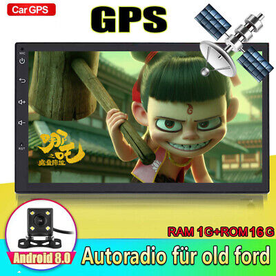 Android 8.1 Autoradio mit BLUETOOTH GPS Navi EU MAP USB Doppel 2DIN Navigation