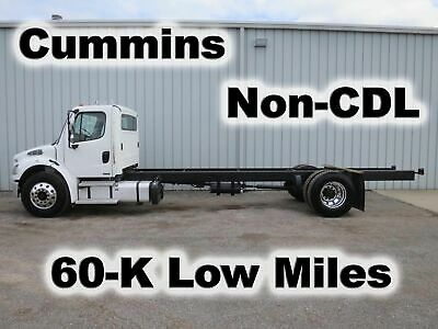 M2 106 Cummins Automatic Cab Chassis Straight Frame Truck Non-Cdl 60-K Low Miles