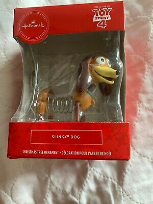 Hallmark 2019 Disney Toy Story 4 SLINKY DOG Ornament Red Box NIB Walmart Exclsv.