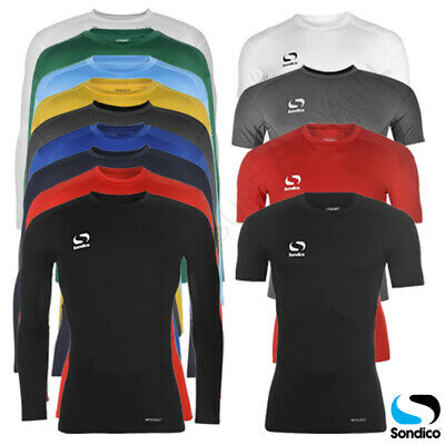 Mens Base Layer Sondico Tops Long or Short Sleeve Compression T Shirt M L XL 2XL