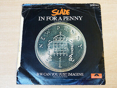 "Slade/In For A Penny/1975 Polydor 7"" Single"
