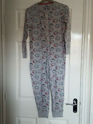 Hello Kitty M&S Onepiece Sleepsuit Age 9-10  Very Cute