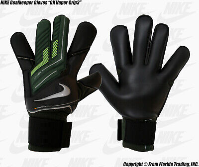 "NIKE Soccer Goalkeeper Gloves ""GK Vapor Grip 3""(6)Black/Volt/Silver GS0252-037"