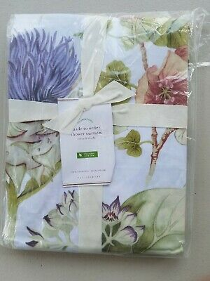Pottery Barn Thistle Print Shower Curtain NEW