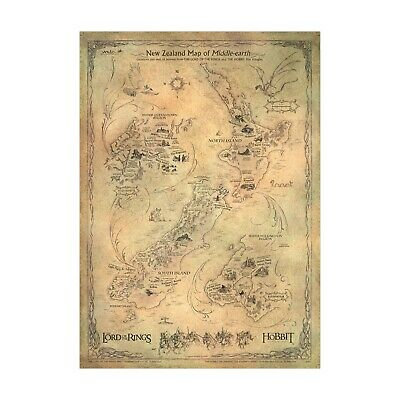 Lord of the Rings: New Zealand Map of Middle-Earth - by Weta - Weta LOTR & Ho...
