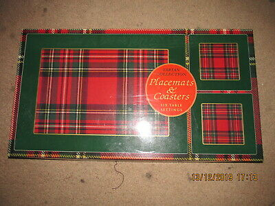 Scottish Scot Scotland Placemat Dinner Settings Coasters 6 Each Boxed  Red Burns
