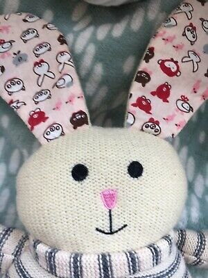 """Rabbit Thermal Bed Warmer 6""""x6"""" Heating Warm Microwaveable Pink Floral Xmas"""
