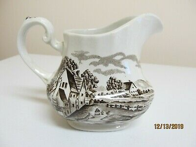 "Hand Engraved Ridgway Creamer ""Country Days"" Staffordshire England"